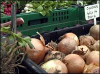 Organic food on sale
