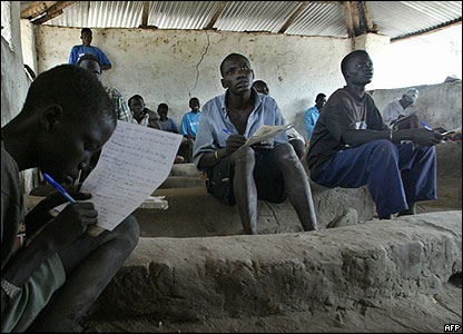 Schoolchildren in Rumbek
