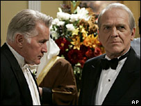 Martin Sheen and John Spencer (r) in The West Wing