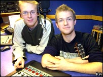 John Parker (left) and Luke Concannon known as Nizlopi in the studio in Coventry