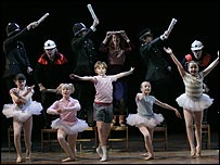 Liam Mower and cast in Billy Elliot