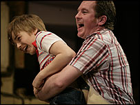 Liam Mower and Joe Caffrey in Billy Elliot