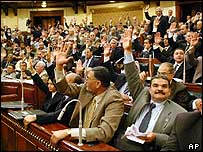 Egypt's lower house votes for amendment to constitution allowing multi-party elections