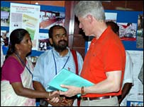 Bill Clinton visited the orphanage in May