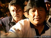 Evo Morales after the election