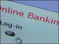 Online banking webpage, BBC