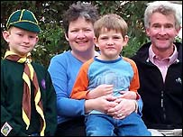 Dr Richard Davies his wife Sarah and sons John and Jim