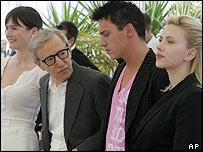 Emily Mortimer, Woody Allen,  Jonathan Rhys Meyers Scarlett Johansson