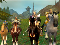 Characters on horseback, Blizzard