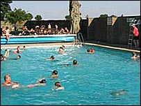 Bbc News Uk England Oxfordshire Threatened Swimming Pool Re Opens