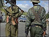 Militiamen in Mogadishu