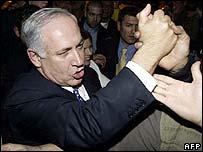 Binyamin Netanyahu greets Likud supporters
