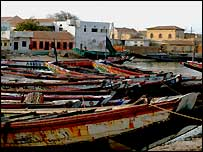 Senegalese fishing boats in St Louis (Copyright BBC News website reader Michelle Donnelly-Bray)