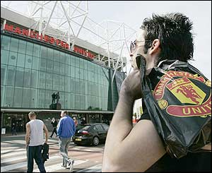 A fan looks at Old Trafford