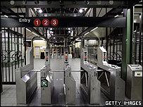 72nd street subway station stands empty