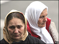 Relatives of the murdered Bosnian Muslims