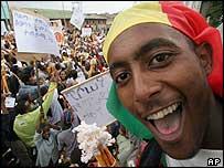 Ruling EPRDF supporter