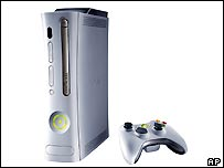 The Xbox 360 and controller