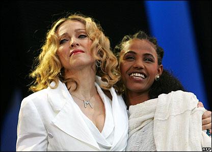 Madonna and Birhan Woldu