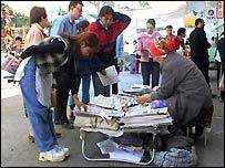 News sellers in Tashkent
