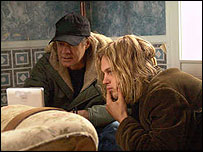 Gus Van Sant with actor Michael Pitt