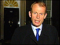 Andrew Marr outside 10 Downing Street