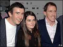 Steve Coogan, Shirley Henderson and Rob Brydon at A Cock and Bull Story screening