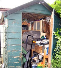 Typical garden shed