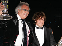 Flavio Briatore (left) and Fernando Alonso