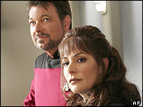 Jonathan Frakes and Marina Sirtis in Star Trek: Enterprise