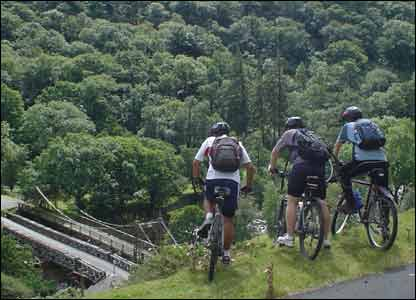 Don't ask Matthew King where this picture was taken. He snapped it while on a ride with friends in mid Wales but they got lost (we have since been told it is a dam in the Elan Valley near Rhayader)