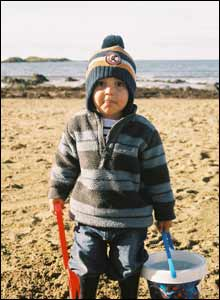 Ean Davies took this shot of his son Kiran on the beach at Rhosneigr, Anglesey