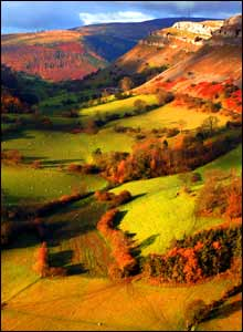 David Thomas took this photo when he was walking up to Crow Castle, Llangollen with his son Rowan