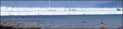 Tsunami en las playas de Phuket, Tailandia