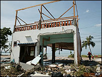 Vivienda destruida en Tailandia
