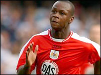 Bristol City striker Leroy Lita