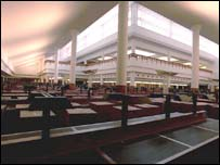 Interior view of the British Library