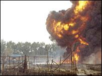 Picture of the blast scene in Andoni, Nigeria (courtesy Abdul Abubakar)