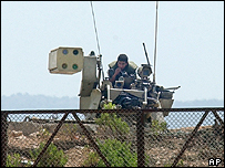 Israeli tank on the Israeli-Lebanese border