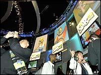 E3 show floor in 2004