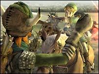 Screenshot of the Legend of Zelda