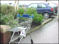 Trolley at Tesco, Carmarthen