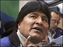 Bolivian President-elect Evo Morales
