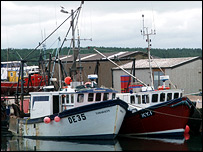 Fishing boats in Burghead Harbour