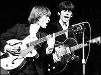 The Rolling Stones' Brian Jones (left) and Keith Richards in 1964