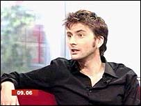 David Tennant in the Breakfast studio