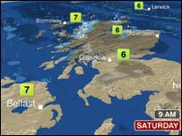 Scotland weather map