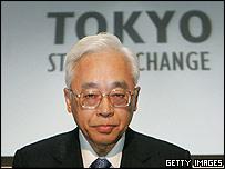 Former Tokyo Stock Exchange President Takuo Tsurushima
