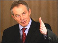 Tony Blair at press conference