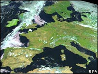 Europe by MSG-1 (Eumetsat/Esa)